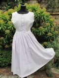 1950's Swiss cotton lilac summer vintage day dress for Harrods